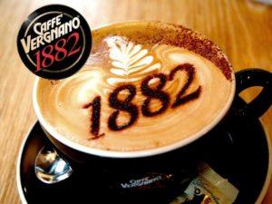 Caffè Vergnano: foto tazza caffè + logo